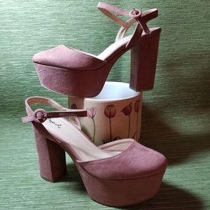 Qupid*Nala Mauve Suede Platform Shoes